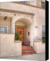 Spanish Style Canvas Prints - Front Entrance Canvas Print by Chuck Staley