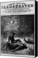 Oppression Canvas Prints - Front Page Of 1874 Newspaper Declaring Canvas Print by Everett