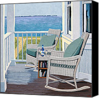 Porch Canvas Prints - Front Porch Canvas Print by Christopher Mize
