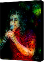 Singer Painting Canvas Prints - Frontman Canvas Print by Arline Wagner