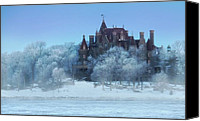 St Lawrence River Canvas Prints - Frosted Castle Canvas Print by Lori Deiter
