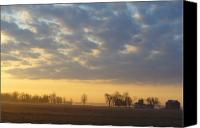 Landscape Canvas Prints - Frosty Spring Sunrise Canvas Print by Peggy King