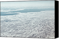 Frozen Canvas Prints - Frozen And Ice Covered Gulf Of Finland Canvas Print by Photography by Oleg Pulemjotov (Photogruff)