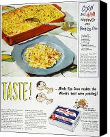 Birdseye Canvas Prints - Frozen Food Ad, 1947 Canvas Print by Granger