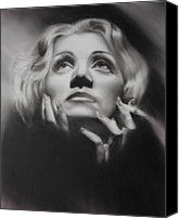 Silver Screen Actress Canvas Prints - Frozen in time Canvas Print by Jeff Mueller