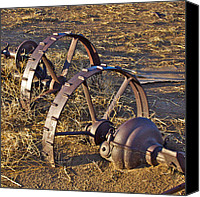 Tractor Wheel Canvas Prints - Frozen in Time Canvas Print by Kurt Gustafson