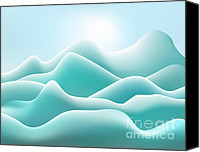 Gradations Canvas Prints - Frozen Landscape Canvas Print by Dave Gordon