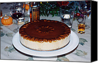 Torte Canvas Prints - Frozen Pumpkin Mousse Torte Canvas Print by Robert Meyers-Lussier