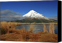Mountain Scene Canvas Prints - Frozen Tarn Canvas Print by Jim Evans