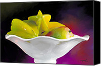 Mango Canvas Prints - Fruit Bowl Canvas Print by Michelle Wiarda