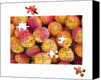 Game Piece Canvas Prints - Fruit jigsaw1 Canvas Print by Jane Rix