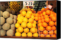 Fruit Markets Canvas Prints - Fruit Market - Painterly - 7D17401 Canvas Print by Wingsdomain Art and Photography