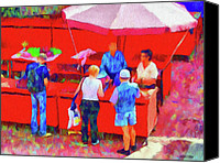 Umbrellas Canvas Prints - Fruit of the Vendor Canvas Print by Jeff Kolker