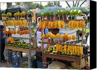 Mango Canvas Prints - Fruit Stand Antigua  Guatemala Canvas Print by Kurt Van Wagner