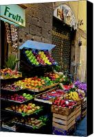 Digital Posters Photo Canvas Prints - Fruit Stand  Canvas Print by Harry Spitz