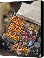 Tent Digital Art Canvas Prints - Fruit Vendor in the Kahn Canvas Print by Mary Machare