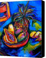 Tropical Beach Painting Canvas Prints - Fruitful Canvas Print by Patti Schermerhorn