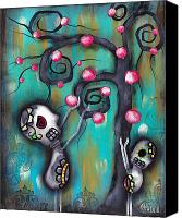 Sugar Skull Painting Canvas Prints - Fruits Canvas Print by  Abril Andrade Griffith