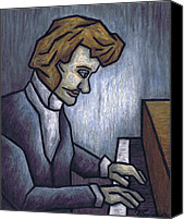 Cubism  Canvas Prints - Fryderyk Chopin - Prelude in E-Minor Canvas Print by Kamil Swiatek
