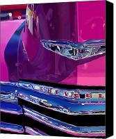 Photorealism Digital Art Canvas Prints - Fuchsia and Chrome Canvas Print by Bob Nolin