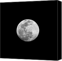 Full Moon Canvas Prints - Full Moon Canvas Print by CP Cheah