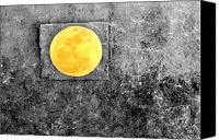March Canvas Prints - Full Moon Canvas Print by Rebecca Sherman