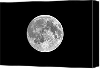 Full Moon Canvas Prints - Full Moon Canvas Print by Richard Newstead