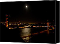 Frisco Canvas Prints - Full Moon Rising Canvas Print by Bill Gallagher
