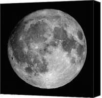 Sparkling Canvas Prints - Full Moon Canvas Print by Roth Ritter