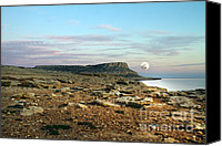 Silver Moonlight Canvas Prints - Full Moon Canvas Print by Stylianos Kleanthous