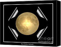 Father Christmas Canvas Prints - Full Moon Unfolding Canvas Print by Rose Santuci-Sofranko