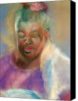 Reading Pastels Canvas Prints - Full of Peace Canvas Print by Jimmie Trotter