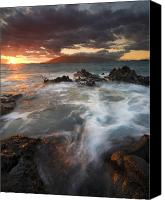 Beaches Canvas Prints - Full to the Brim Canvas Print by Mike  Dawson