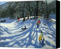 Atmospheric Painting Canvas Prints - Fun in the Snow Canvas Print by Andrew Macara