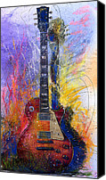Guitar Canvas Prints - Fun With Les Canvas Print by Andrew King
