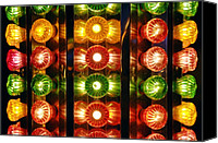 Fun Fair Canvas Prints - Funfair Lights Canvas Print by Johnny Greig