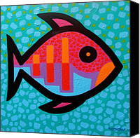 Swim Canvas Prints - Funky Fish III  Canvas Print by John  Nolan