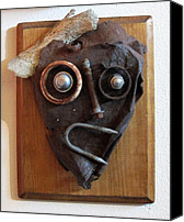 Found Objects Sculpture Canvas Prints - Funny Bone Canvas Print by Snake Jagger