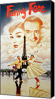 1957 Movies Canvas Prints - Funny Face, Audrey Hepburn, Fred Canvas Print by Everett
