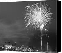 Fireworks Photo Canvas Prints - Fur Rondy Fireworks Canvas Print by Ed Boudreau