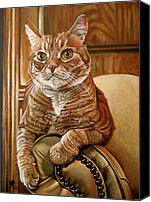 Tabby Painting Canvas Prints - Furby Canvas Print by Cara Bevan