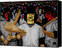 Baseball Painting Canvas Prints - Furies up to Bat Canvas Print by Al  Molina