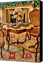 Tea Party Photo Canvas Prints - Furniture - Chair - The Tea Party Canvas Print by Mike Savad