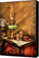 Oil Lamp Canvas Prints - Furniture - Lamp - The Gas Lamp Canvas Print by Mike Savad