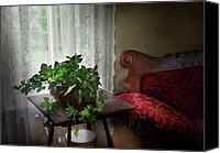 Tables Canvas Prints - Furniture - Plant - Ivy in a window  Canvas Print by Mike Savad