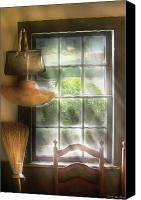 Gardener Canvas Prints - Furniture - Window - House Wife  Canvas Print by Mike Savad