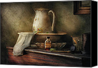 Bowls Canvas Prints - Furniture - Table - The Water Pitcher Canvas Print by Mike Savad