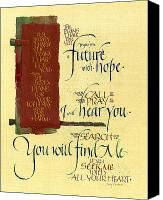 Bible Mixed Media Canvas Prints - Future Hope I Canvas Print by Judy Dodds