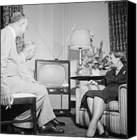 Tv Set Canvas Prints - Future President Dwight D. Eisenhower Canvas Print by Everett