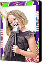 Susan Leggett Canvas Prints - Future Star Sing It Girl Canvas Print by Susan Leggett